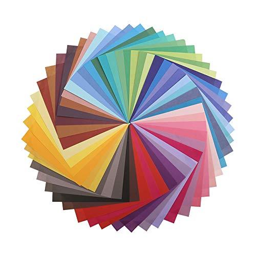 dorisdoll 150 Blatt Origami-Papier 50 Lebendige Farben 15x15CM / 6