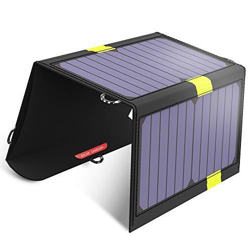 X-DRAGON 20W Cargador Panel Solar Placa Solar Plegable (Doble Puertos USB for Moviles, Tablets y Otros Dispositivos Digitales)