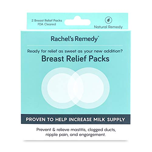 Rachel's Remedy Breast Relief Packs for Breastfeeding and Nipple Pain, Increase Milk Supply and Treat Clogged Ducts, 2 per Pack