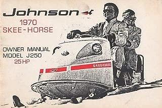 1970 JOHNSON SKEE-HORSE SNOWMOBILE J250 25HP OWNERS MANUAL P/N 405249 (168)