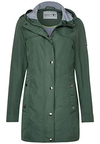 Cecil Damen Lang geschnittene Jacke Pastel Green XS