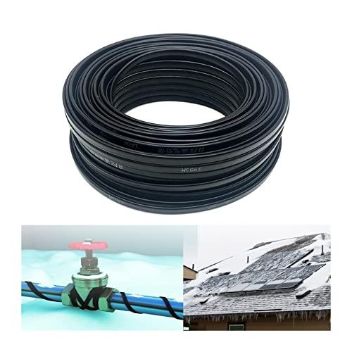 BOYUYO Cable Calefactor Anticongelante para Plantas Invernadero  Tuberías Reptiles incubadora terrario Elemento Calefactor 220V ~230V (Color : 60m, Size : Ø8mm-20W/m)