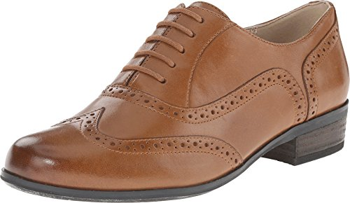 Clarks Women's Hamble Oak Dark Tan Leather Oxford 8.5 B (M)