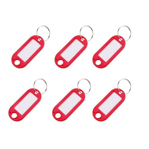 Chaveiro Plus Cores Organizador Identificador de Chaves - 25 Unidades - Vermelho