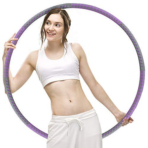 multifun Hula Hoop Reifen Erwachsene, Hoola Hoop Reifen 1,2kg/1,5kg/3kg, Φ93cm Fitnessreifen zum Abnehmen, Gewichte einstellbare Reifen für Gewichtsreduktion, geeignet für Anfänger & Fortgeschrittene