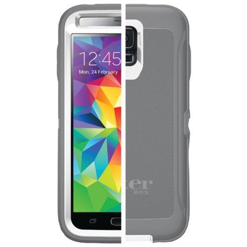 Otterbox DEFENDER SERIES for Samsung Galaxy S5 - Retail Packaging - GLACIER (WHITE/GUNMETAL GREY)