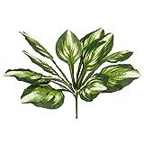 WFZ17 Künstliche Blumen mit grünen Blättern, zum Basteln, für Gartentischdekoration, Grün