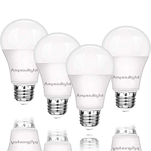 Ampoulight 150-200W Equivalent LED Light Bulb,A21 Warm White 3000K 2200LM Non-Dimmable E26 Medium Screw Base 20W Light Bulb (4 Packs) by Ampoulight