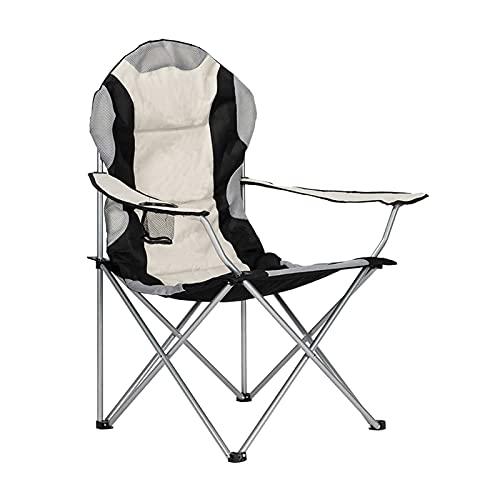 Heavy Duty Folding Camp Stuhl 59 * 59 * 102 cm Weiß High Back Lightweight Porable Übergroße Campingstuhl mit Becherhalterung für Erwachsene Große große Kinder