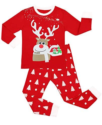 Little Hand Christmas Boys Pyjamas Set Reindeer Cotton Long Sleeve Sleepwear Toddler Baby Clothers Xmas Nightwear Kids Pjs Outfit 5-6 Years