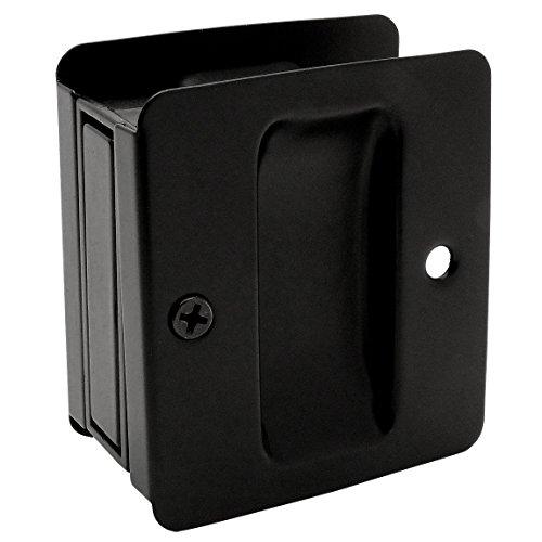 Designers Impressions Matte Black Pocket Door Passage : 53898