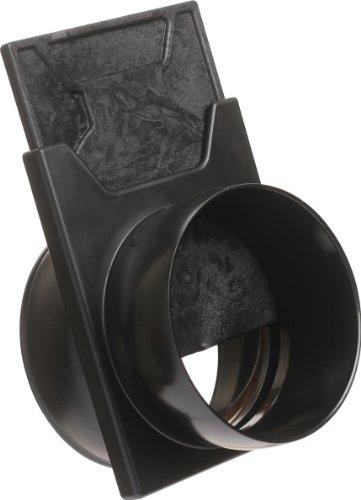 Loc-Line - 81308AS Anti-Static Vacuum Hose Component, Black Acetal Copolymer, Slide Valve, 2-1/2' Hose ID