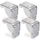 4 x SO-TECH® Mensula plegable para Pata de Mueble Bisagra Consola plegable para Mesa plagable 38 x 38 mm
