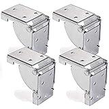 4 x SO-TECH Sostegno per Tavolo Pieghevole Sostegno Pieghevole Staffa Pieghevole per Gambe del Tavolo 38 x 38 mm