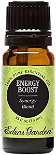 Edens Garden Energy Boost Essential Oil Synergy Blend, 100% Pure Therapeutic Grade (Highest Quality Aromatherapy Oils- Detox & Energy), 10 ml