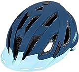 ABUS Urban-I 3.0 86880 - Casco de Bicicleta con luz Trasera para el tráfico Urbano, para Hombre y Mujer, Color Azul Oscuro, Talla L