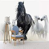 Fototapete Moderne Kunst Schwarz Weiß Pferd Tv Hintergrund Wandpapier Wandbild Kreative Wohnzimmer Schlafzimmer Wohnkultur 200X140 Cm