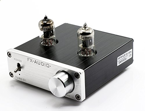 FX Audio TUBE-01 6J1 Tube Buffer HiFi Preamplifier (Silver)
