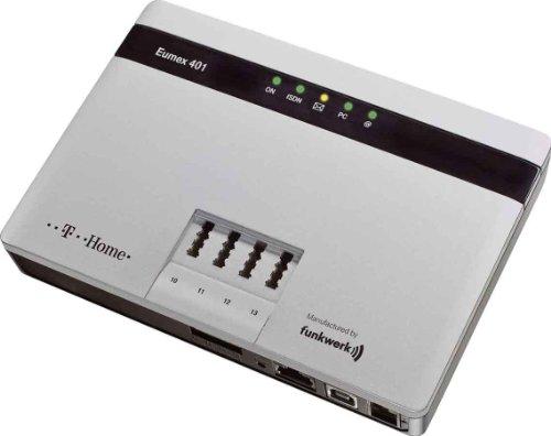 T-Home Eumex 401 ISDN- TK-Anlage mit 4 a/ b-Ports