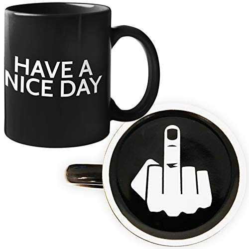 Funny Coffee Mug for Men and Women - Have A Nice Day Coffee Mug Middle...
