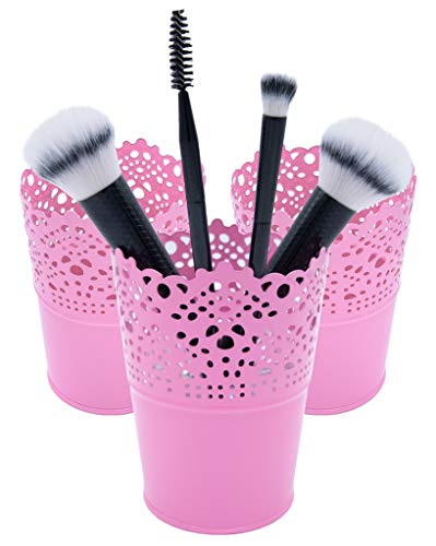 HT 3 Make-up Organizer, Kosmetik Organizer zum Aufbewahren von Schminke, Becher für Make up Pinsel...