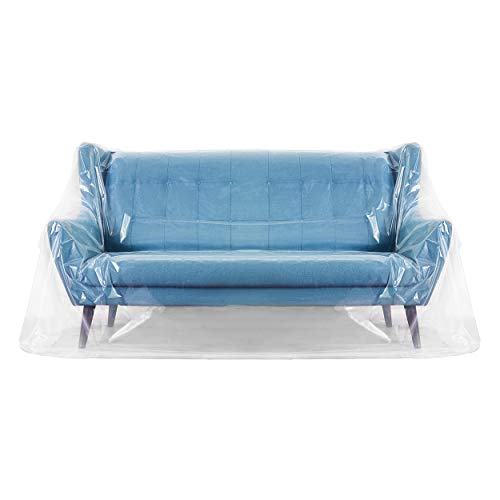 Waterproof Plastic Cat Scratch Couch IN HAND Thick Clear Sofa Cover for Pets