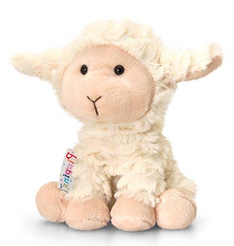 Lashuma Plüschtier Lamm Woolly, Weißes Schaf, Kuscheltier Pippins 14 cm