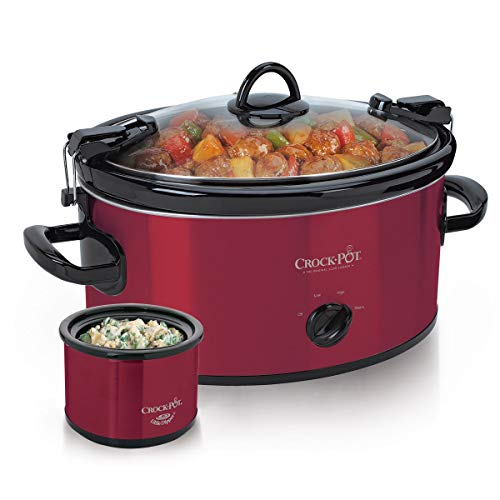 Crock-Pot 6-Quart Cook and Carry Slow Cooker with Little Dipper Warmer (Red)