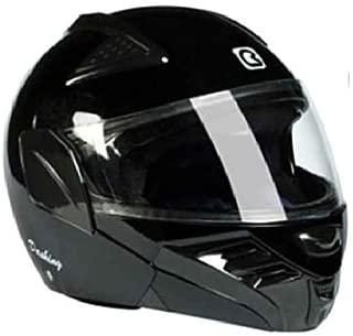 Steelbird SB-34 Zorro Full Face Helmet with Anti-Scratch Coated Visor (Dashing Black, One Size)