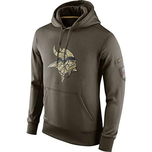 Z/A Minnesota Vikings Rugby Jersey Tribut Version Pullover Mit Kapuze Pullover Schulter Hülse Lange Hülse Sports Beiläufige Strickjacke,XXXL