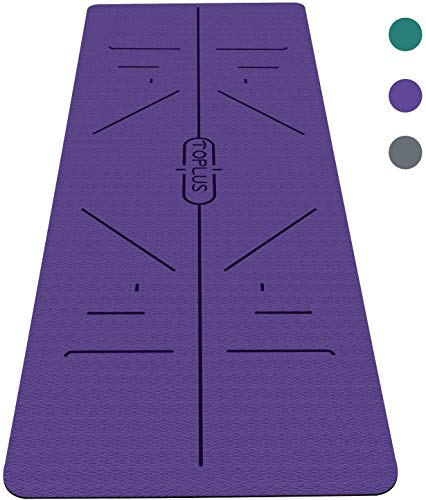 TOPLUS Yoga Mat - Classic 1/4 inch Pro Yoga Mat Eco Friendly Non Slip Fitness Exercise Mat with Carrying Strap-Workout Mat for Yoga, Pilates and Floor Exercises image