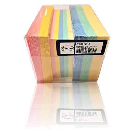 Cartoncini Colorati con Busta, 100Pz 11x8 cm, Biglietti Colorati Piccoli con Busta, Multicolore - Bigliettini Auguri con Buste 5 Colori Pastello Assortiti, Bustine con Foglietti (5 Colori)