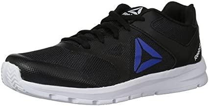 Reebok Unisex-Kid's Rush Runner Sneaker, Black/Vital Blue, 12 M US Little Kid