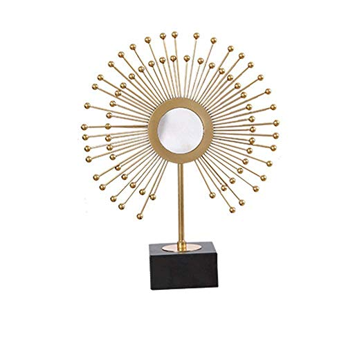 GYC Kreative tragbare europäische Schmuck Ornamente Wohnzimmer Eingang TV-Schrank Moderne Wohnkultur Metall Handwerk 40CM * 47CM Zart schön