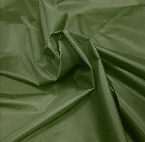 A-Express - Tela impermeable tejido en nylon, cubierta de tienda de acampar, para exteriores., nailon, Verde, 5 Meters (500cm x 150cm)