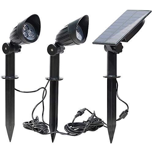 Luz Solar Luz De Jardín Al Aire Libre Hogar Impermeable Uno Para Dos Lámpara De Proyección De Césped Lámpara De Enchufe De Tierra De Jardín De Villa Superbrillante