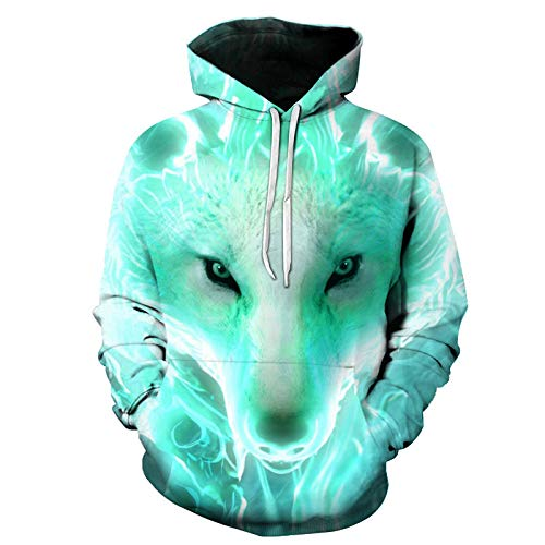vhidfsjgdsfik Sudadera con Capucha de impresión Digital en 3D suéter Jersey Pareja Camisa-3 L