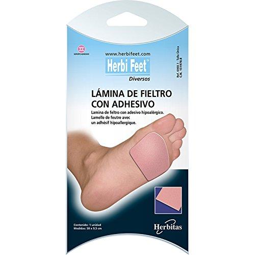 almohadilla de fieltro para planta del pie con adhesivo hipoalérgico.(50x9.5) cm Recortable según la necesidad. Inluye guia del cuidado del pie GRATIS