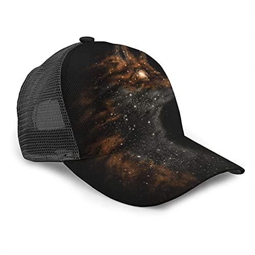 Oaieltj Gorra de béisbol unisex para hombre y mujer, gorra de béisbol ajustable, sombrero de papá casual, Galaxy Wolf Glitter, Talla única