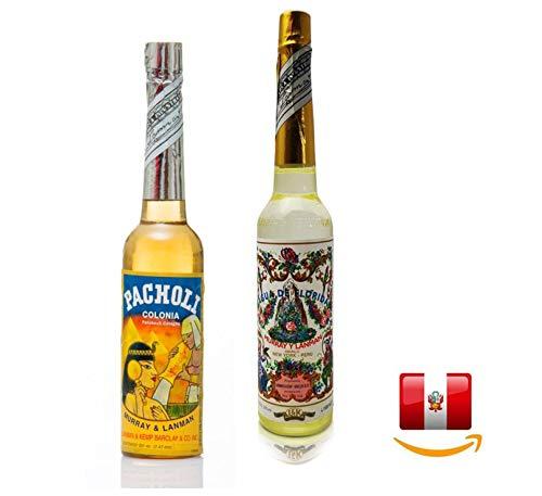 1 Set 2 in 1 Agua de Florida 270ml und Agua de Pacholi original aus Peru. Agua de Florida wirkt erfrischend und Pacholi Öffnet Tore zum Unterbewusstsein