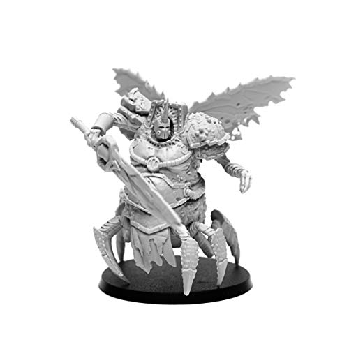 28mm Heroic Scale Wargaming Role Playing Miniature Figures AstroDemons - Unpainted Resin Miniatures for Tabletop Wargames - Demon Miniature Alkaid