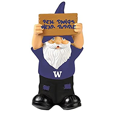 Elite Fan Shop Washington Huskies Garden Gnome - Purple