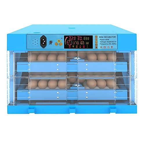 Jlxl Huevo Incubadora Automático 128 Huevo Control De Temperatura Ajustable con Luz LED Integrada Pollo Codorniz Huevos De Pavo Uso Doméstico