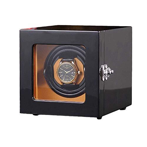ZHANGYH Vibrador de Reloj mecánico Devanadera de Reloj, Caja automática de Madera de la Caja de Almacenamiento del Reloj de la rotación 1 + 0