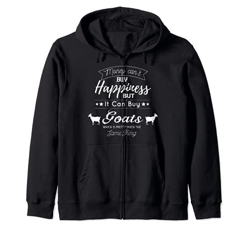 L'argent ne peut pas acheter le bonheur, mais chèvres Sweat à Capuche