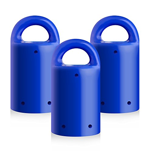 MagnetPal 3 pack Heavy-Duty Neodymium Anti-Rust Magnet, Best for Magnetic Stud Finder / Key Organizer / Indoor and Outdoor Multi Uses, Blue with Key Ring (SP-MPM3BL)