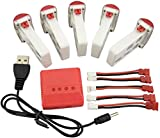 sea jump 5pcs 3.7V 500mAh Battery +5pcs Conversion line+ 1to4 Charger for syma X5U X5UC X5UW WiFi FPV RC Drone Quadcopter Spare Parts Battery