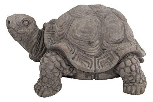 Deko Tier-Figur Schildkröte dunkelgrau klein - 1 Stück