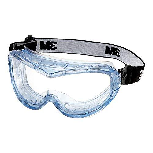 3M Vollsichtschutzbrille Fahrenheit FheitAF – Schutzbrille mit AS, AF & UV Beschichtung – Ideal für das Tragen mit Atemschutzmasken oder Brillen