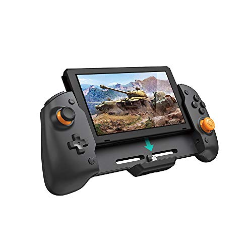 TNS-19252 NS-Switch Grip in-line Gamepad, Plug and Play, Suitable for N- Switch NS, can Charge and Play Games at The Same time, with six-axis Gyroscope Gravity Sensing, Dual-Motor Vibration